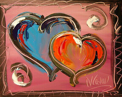 HEARTS  Modern Abstract Oil Painting Original Canvas Wall Decor CANADIAN  ARTIST