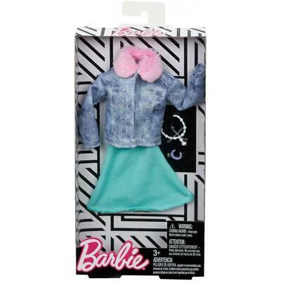 Barbie Complete Looks Fashion Green Dress and Denim Coat Fashion Pack