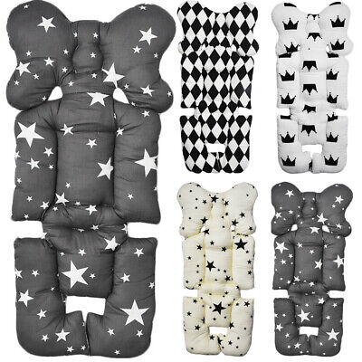 US Baby Newborn Car Seat Stroller Liner Pad Cushion Mat Pillow Support Body Head