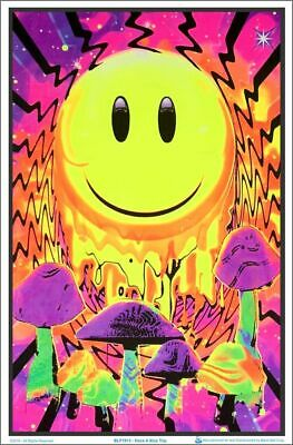"Poster Blacklight - Have A Nice Trip - Flocked 23""x35"" Wall Art bl1913"