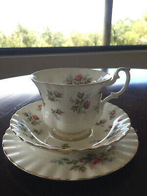 Winsome Royal Albert bone china cup and saucer - rose pattern