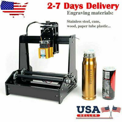 15W USB Laser Engraving Carving DIY Cylindrical Laser Engraver Printer Machine