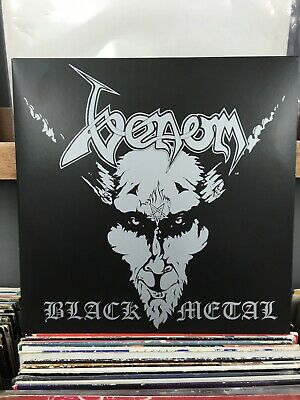 Venom ~ Black Metal 2xLP Ltd Edition White Vinyl With Black & Grey Speckles