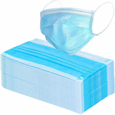50pc 100pc Disposable Medical Dental Dust Proof Face Mask Respirator Blue Green