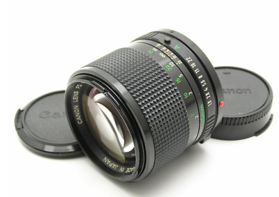 Appearance N.MINT CANON NEW FD 85mm F1.8 NFD MF Portrait Lens Exc+++ From JAPAN
