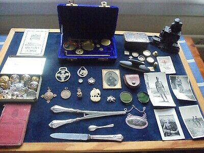 Quality Job Lot Of Antique/Vintage Collectables With Silver   428 X