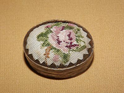 VINTAGE ENAMEL 1890S VICTORIAN CLOISONNE BOX ON BRASS PILL or SNUFF  BOX