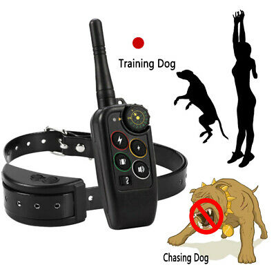 Dog Training Shock Collar Bark Electric Remote For Small & Large Big Dogs
