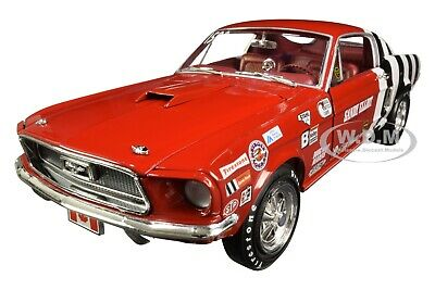 1968 Ford Mustang Cobra Jet Super Stock Sandy Elliot 1/18 Model Autoworld Aw259