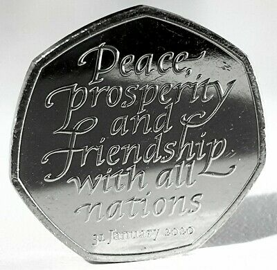 2020 Brexit 50P Coin New And Uncirculated From A Sealed Bag