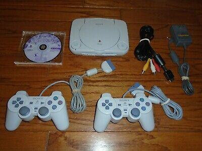 TESTED Sony PlayStation One Console System & 2 Controllers Bundle SCPH-101 PS1