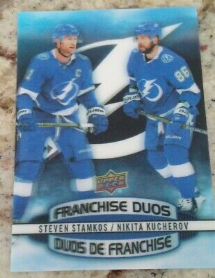2019-20 Tim Hortons Hockey Card Franchise Duos D-9 Stamkos / Kucherov