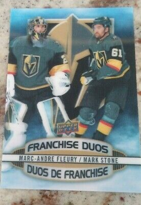 2019-20 Tim Hortons Hockey Card Franchise Duos D-11 Fleury / Stone