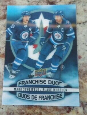 2019-20 Tim Hortons Hockey Card Franchise Duos D-4 Scheifele / Wheeler