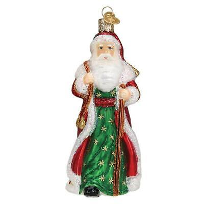 """""""Father Christmas with Bells"""" (40307)X Old World Christmas Glass Ornament w/Box"""