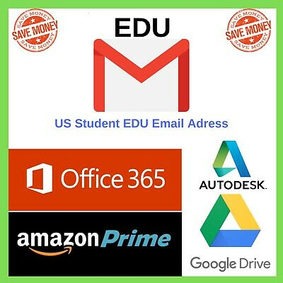 Edu Email 6 Months Amazon Prime Unlimited Google Drive Storage US Student Email>