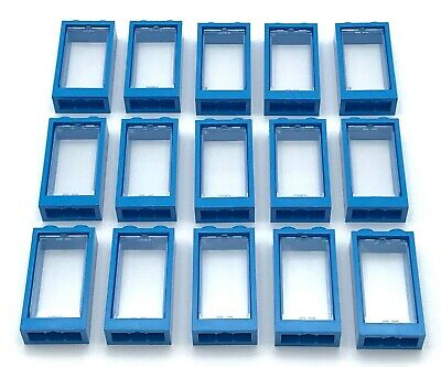 Lego 60602 x4 Glass for Window 1 x 2 x 3 Flat Front Trans-Clear