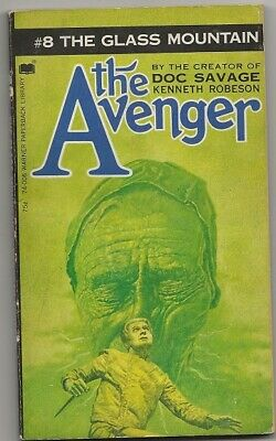 KENNETH ROBESON The Avenger #8 THE GLASS MOUNTAIN. 1973 pb