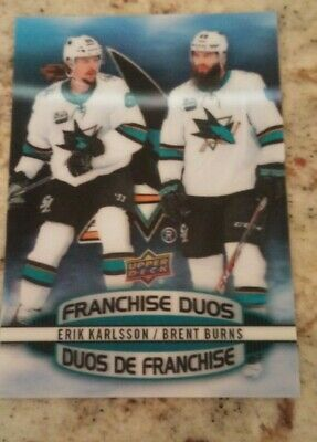 2019-20 Tim Hortons Hockey Card Franchise Duos D-12 Karlsson / Burns