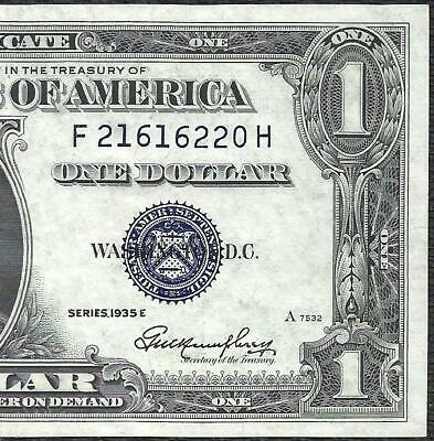 1935E $1 BLUE Seal SILVER Certificate UNCIRCULATED! Old US Paper Money Currency!