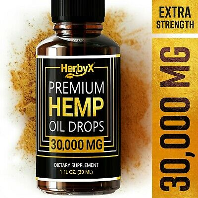 Organic Hemp Oil Drops for Pain Relief, Stress, Sleep 35,000 MG Extra Strength