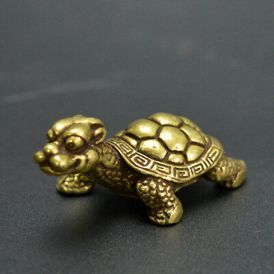 Chinese old collection handwork bronze dragon turtle Statues Collection