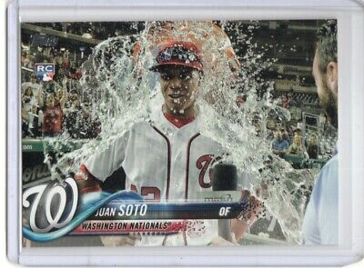 Juan Soto Rc 2019 Topps Update Us300 Gatorade Bath Rookie Sp Ssp Nationals