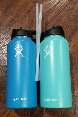 2 water bottles 32 OZ that say Hydro Flask THEY SEEM TO NOT BE AUTHENTIC, FAKE