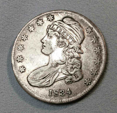 1834 Bust Half Dollar XF Small Date & Small Letters Nice