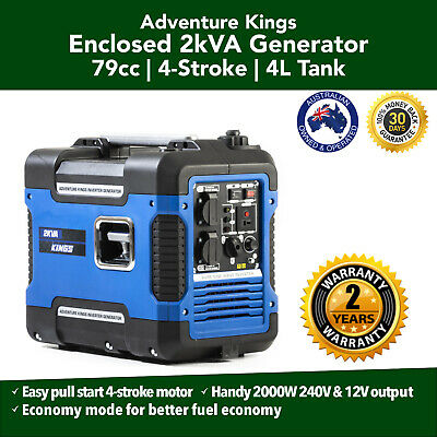 2KVA Closed Case Inverter Generator  Camping Portable Petrol Pure Sine Wave
