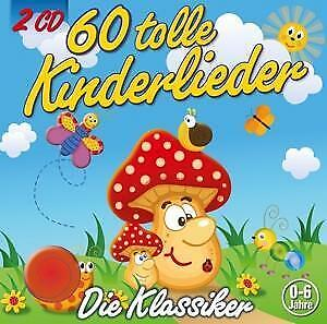 60 Tolle Kinderlieder Kiddy Club Audio-CD 2 Audio-CDs Deutsch 2017