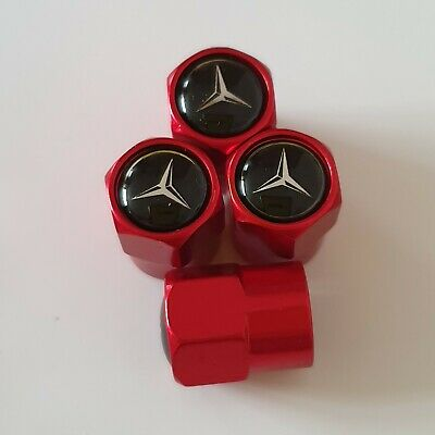 MERCEDES BENZ metal Wheel Valve Dust caps all models Red 5 Color CLA CLS GLE AMG