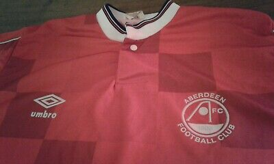 Maglia Shirt Vintage Umbro Football Fc Aberdeen Football Club 1903. Rare!