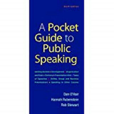 A Pocket Guide to Public Speaking Sixth Edition (Spiral Bound)