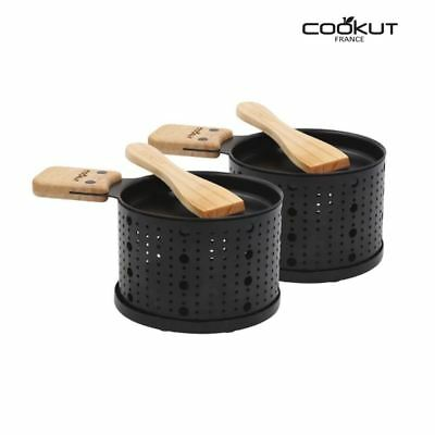 Cookut Lumi Raclette Individual Cheese Burners Heaters with Spatulas Set of 2
