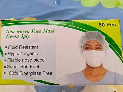 100PCS Disposable Surgical Face Mask Anti-Dust Anti-smog Ear Loop Mouth Mask