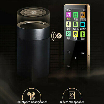 Bluetooth MP3 MP4 Player 4/8/16GB With FM Media Touch Key Sport Music Speakers L
