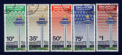 SINGAPORE 1981 Complete Changi Airport Opening Set SG 411 to SG 415 VFU