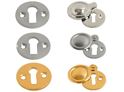 Covered Satin Aluminium Covered escutcheon 32mm diameter x 2