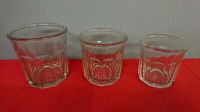 Lot de 3 ancien pot a confiture en verre