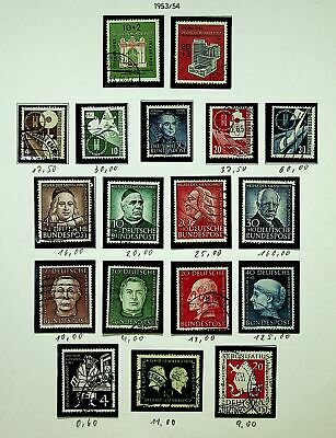 Germany 1953-54 Famous People Etc. Mixed Lot Fine Used Collection - K4590