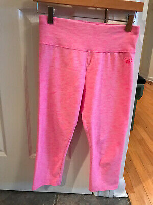 Justice Girls Size 18/20 Capri Leggings - Pink - Cropped - VGUC