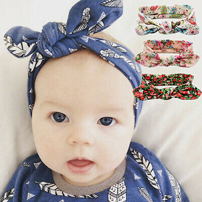 Baby Girls Kids Toddler Floral Bow Knot Hairband Headband Turban Head Wrap Novel