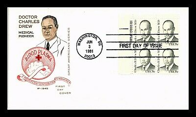 Dr Jim Stamps Us Doctor Charles Drew House Of Farnum First Day Cover Block