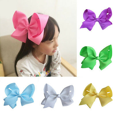 Eg_ Children Girls Large Bowknot Hair Clip Hairpin Party Festival Headwear Nice