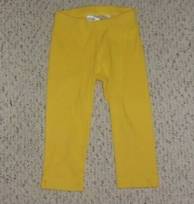 Hanna Andersson Yellow Ribbed Cropped Leggings / Capris, 120 or US Size 6 7