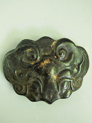 Hongshan culture Magnetic jade stone carved Person's face jade pendant E29