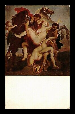 Dr Jim Stamps Rubens Daughters Of Leucippus Carried Off Germany Postcard