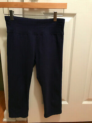 Justice Girls Size 18/20 Capri Leggings - Navy Blue - Cropped - VGUC