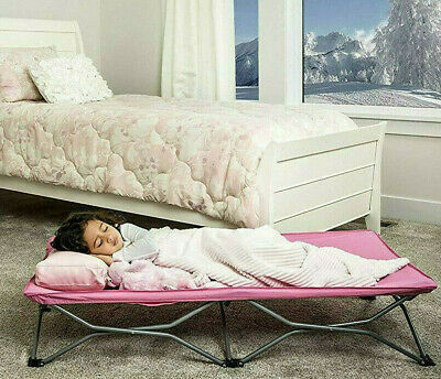 Regalo My Cot Portable Folding Toddler Bed PINK Girls Junior Childrens Camping